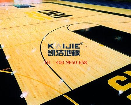 篮球馆运动木地板_枫木双层龙骨地板-篮球地板