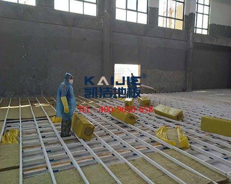 篮球地板_篮球馆运动木地板专业安装流程-篮球地板