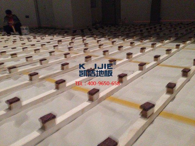 篮球地板安装_室内体育场馆运动木地板标准施工工艺说明-篮球地板