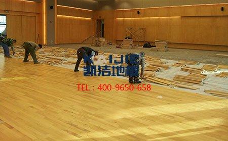 体育运动木地板施工技术措施-篮球地板