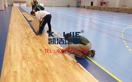 体育运动木地板专业刷漆工艺-篮球地板