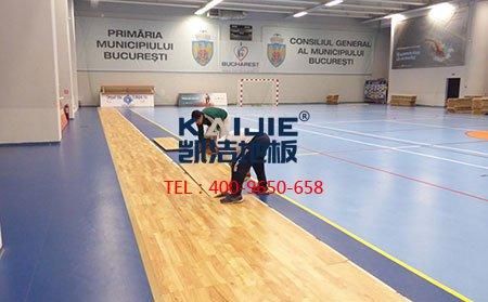 篮球馆运动木地板安装施工具体过程-篮球地板