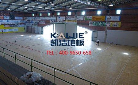 篮球馆运动木地板翻新流程-篮球地板