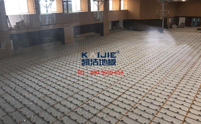凯洁体育运动木地板安装流程