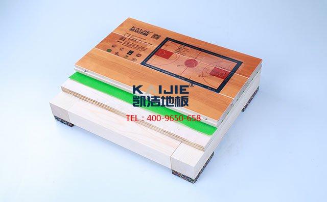 枫桦木B级主辅龙骨结构运动木地板_体育地板
