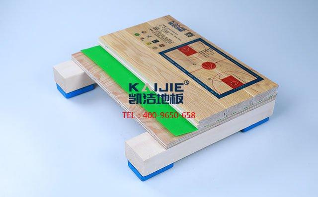 柞木单层,落叶松多层板结构运动木地板-运动木地板