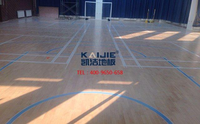 篮球场木地板这些施工技术,保证优质铺装质量