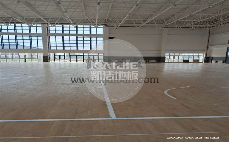 徐州黄集机场体育馆木地板项目-凯洁篮球木地板厂家