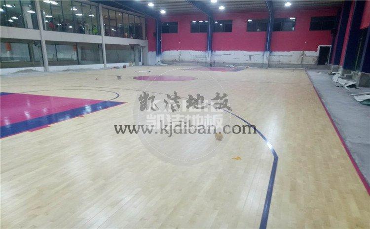 湖北武汉体育中心运动木地板项目-凯洁篮球木地板厂家