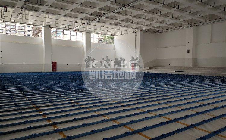 四川绵阳实验中学体育馆木地板项目-凯洁篮球木地板厂家