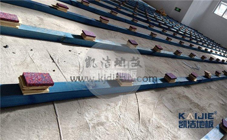 河南鹤壁辅仁中小学体育馆木地板案例