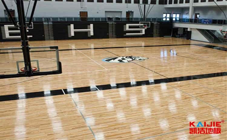 22厚排球馆木地板生产厂家-凯洁地板