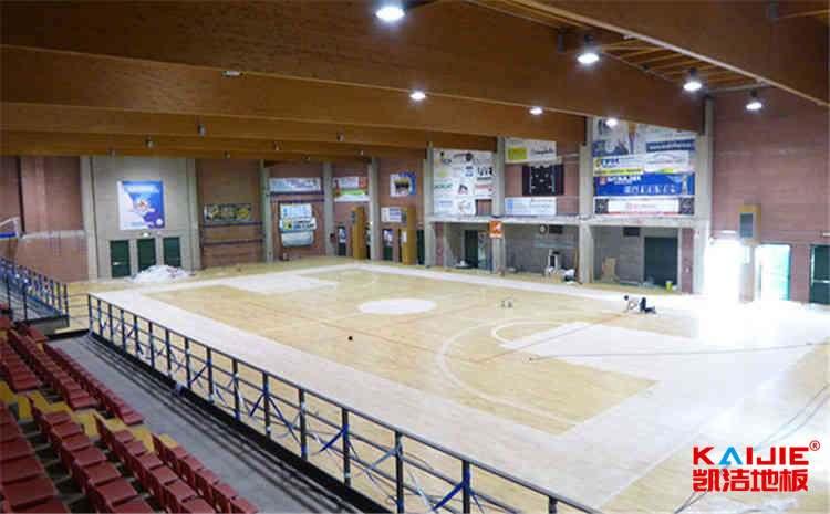 指接板风雨操场运动地板单层龙骨结构-凯洁地板