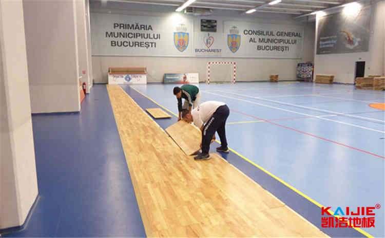 专业的风雨操场地板怎么翻新-凯洁地板