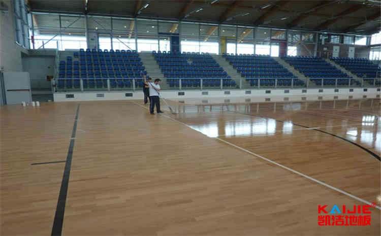 学校篮球场地木地板结构-凯洁地板