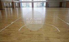 丰镇篮球场枫木地板-凯洁地板