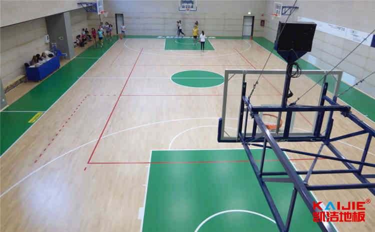 俄勒冈松木地板篮球场图片及价格-凯洁地板